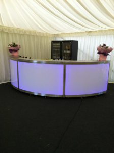light up bar in marquee