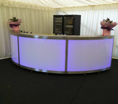 Curved Illuminated Bar | Marquees.Com