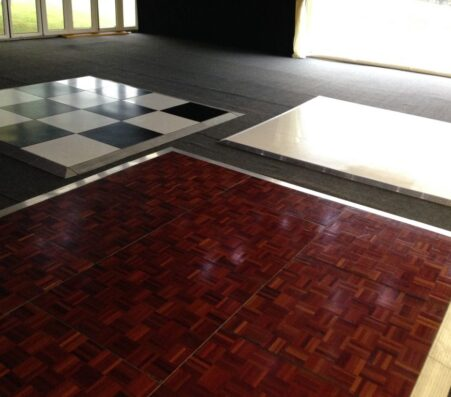 Parquet, Black and White, White | Marquees.Com