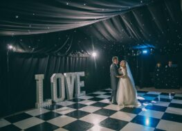 Black and White Dance Floor | Marquees.Com