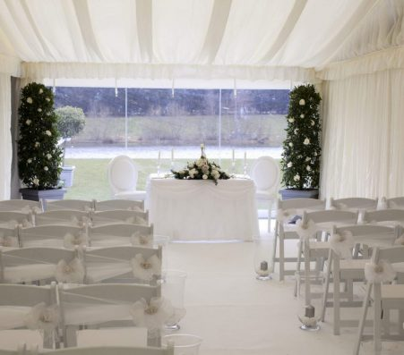 WHITE CEREMONY CHAIRS | Marquees.Com