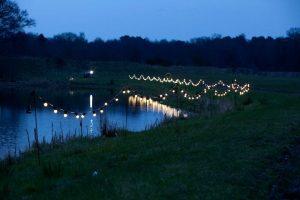 lights around the lake