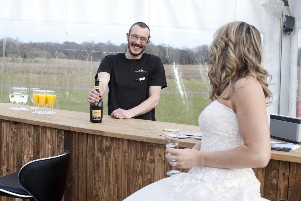 barman in marquee