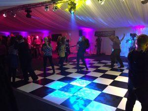 dance floor in marquee