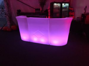 lit up bar