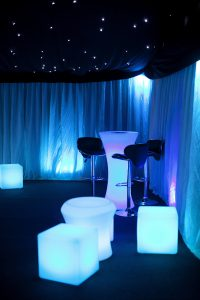 LED furniture hire for marquees