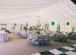 Pleated Roof and Wall Linings | Marquees.Com