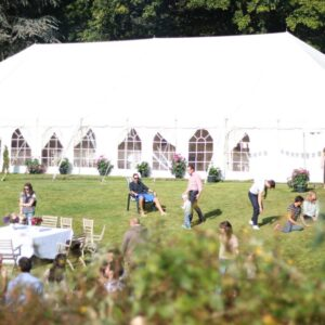 Traditional marquee in the summer