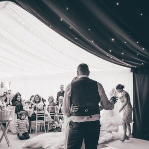 first dance in the marquee
