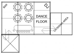 option-50-3 floor plan for marquee in cheshire
