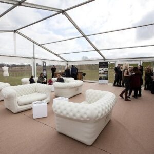 sofa in marquee
