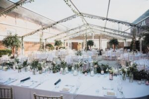 Clear Roof Marquee at Arley Hall
