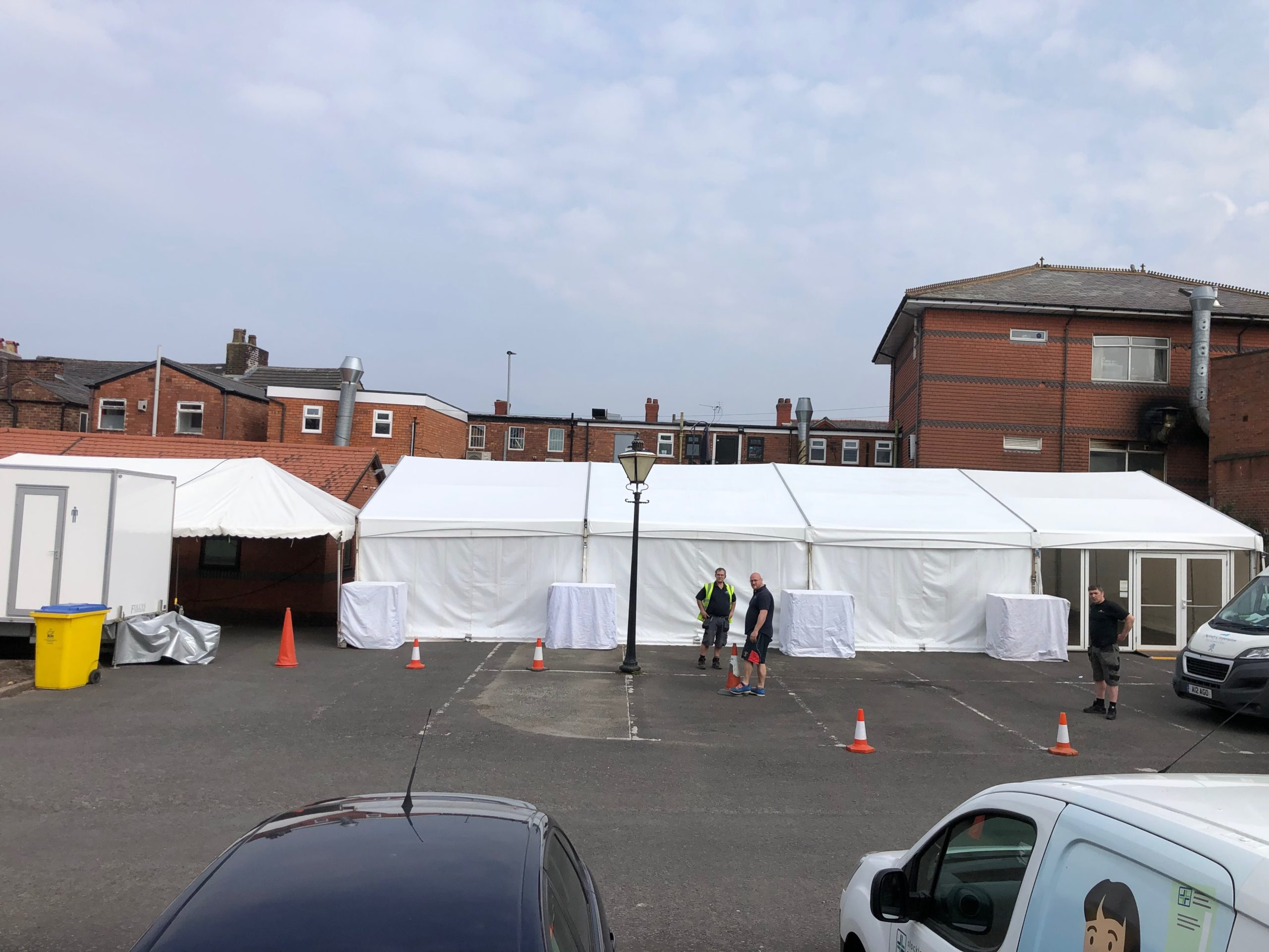 Temporary NHS TRIAGE Facility | Marquees.Com
