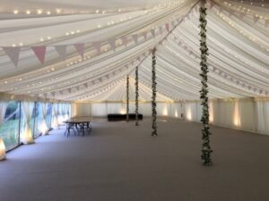 Traditional Marquee with Bunting